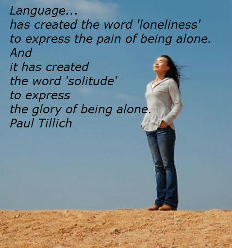 the glory of solitude