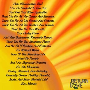 sun gratitude
