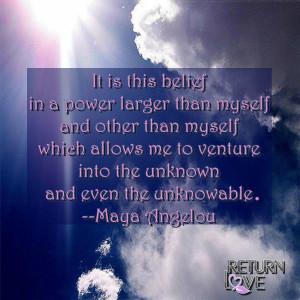 Maya Angelou Belief